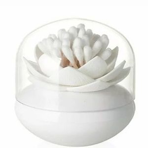 NWT Lotus Cotton Bud Holder Container with Cover